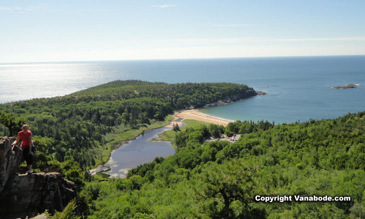 picture from beehive hike acadia national park maine