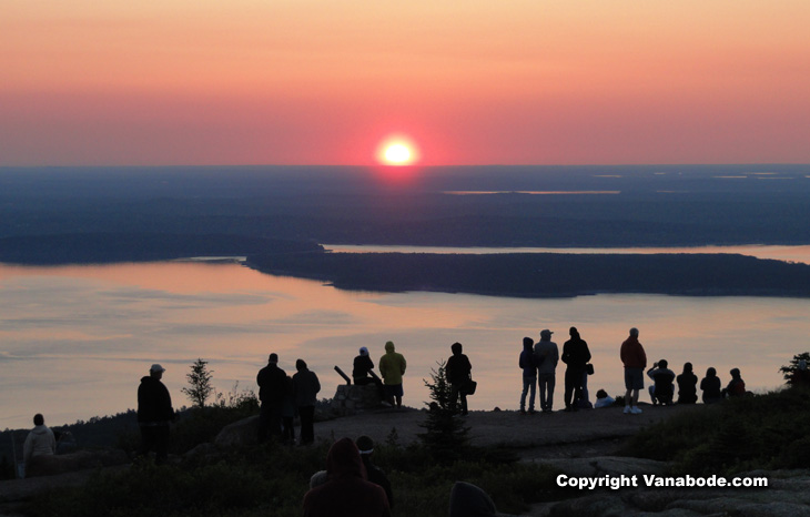 acadia national park cadillac mountain sunrise picture