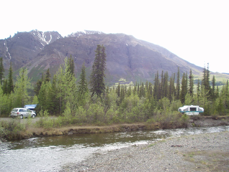 nabesna road campground in wrangell national park alaska
