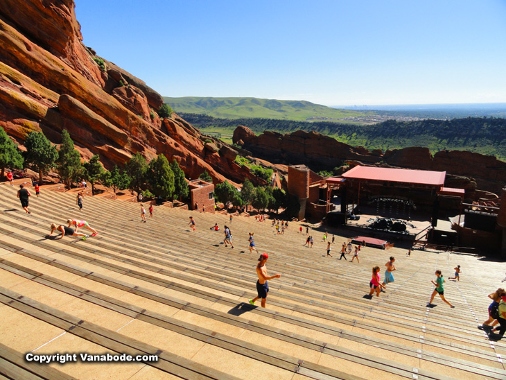 Red Rock amphitheatre in Denver is astonishing