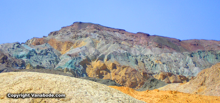 picture of death valley's colored mountains