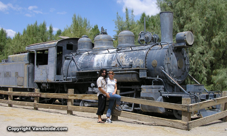 picture of train in Death Valley