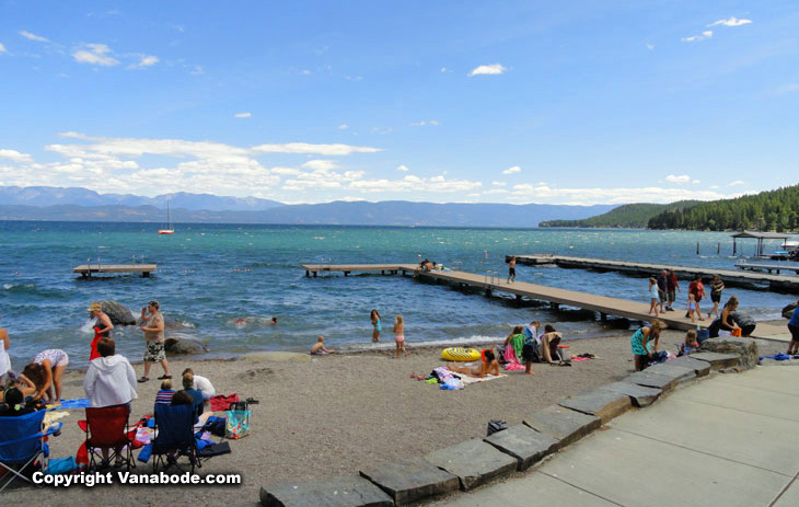 flathead lake in montana waterfront camping and pickniking