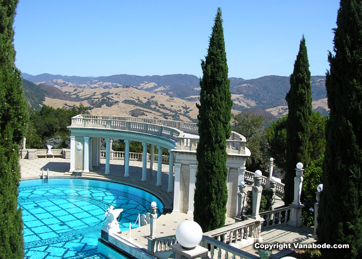 picture of neptune pool hearst castle california