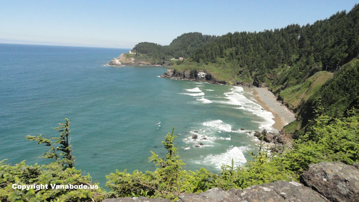 heceta lighthouse oregon viewpoint picture