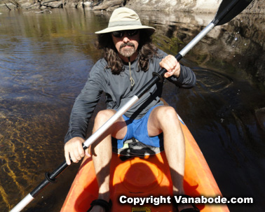 kayaking river econlockhatchee in central florida picture