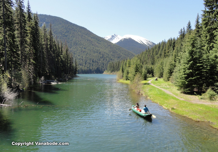 lightning lake manning park british columbia canada picture