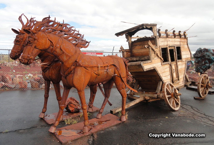 grand canyon horse and wagon sculpture