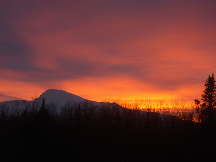 picture taken at sunset of mount sanford in wrangell st elias national park and preserve alaska